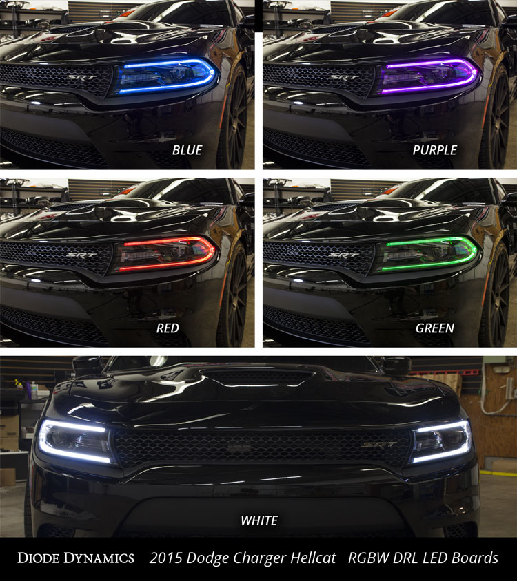 2015 Dodge Charger Hellcat Rgbw Multicolor Led Boards Factory Drl Upgrade See Install Video
