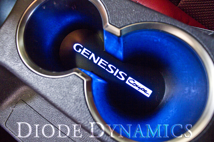 FS: ILLUMINATED Cupholder and Door Pull acrylic! LED / EL ... Hyundai Genesis Coupe 2014 Blue