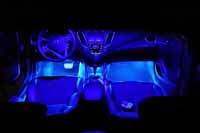 2005 Veloster with Interior Blue Footwell Kit